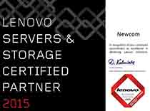 Сертификат Lenovo Server & Storage Certified Partner 2015